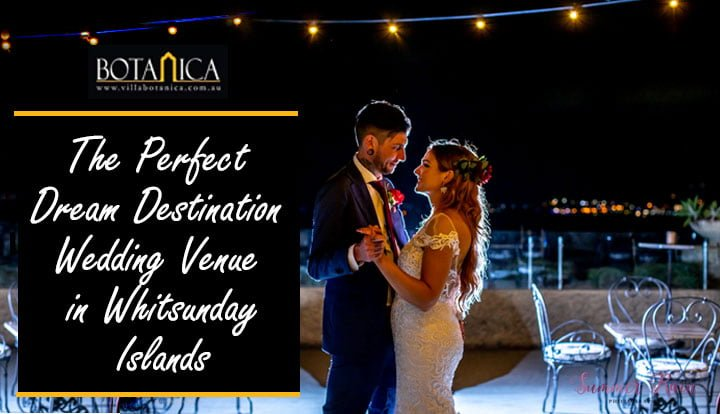 beautiful couple dancing in a romantic night sky wedding venue of Villa Botanica - The Perfect Dream Destination Wedding Venue in Whitsunday Islands